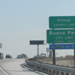 Orange County Line Sign