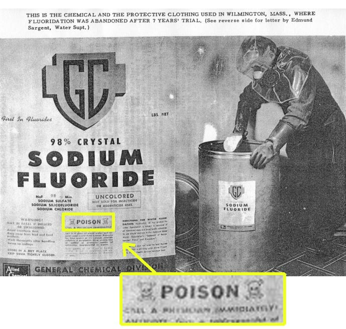 Sodium Fluoride Poison Warning Label