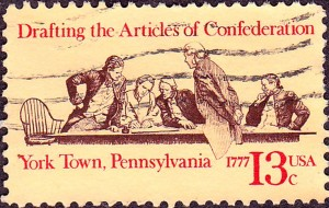 13 Cent Stamp Commemorating the Articles of Confederation