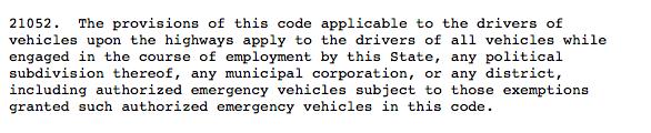 Cal. Veh. Code §21052