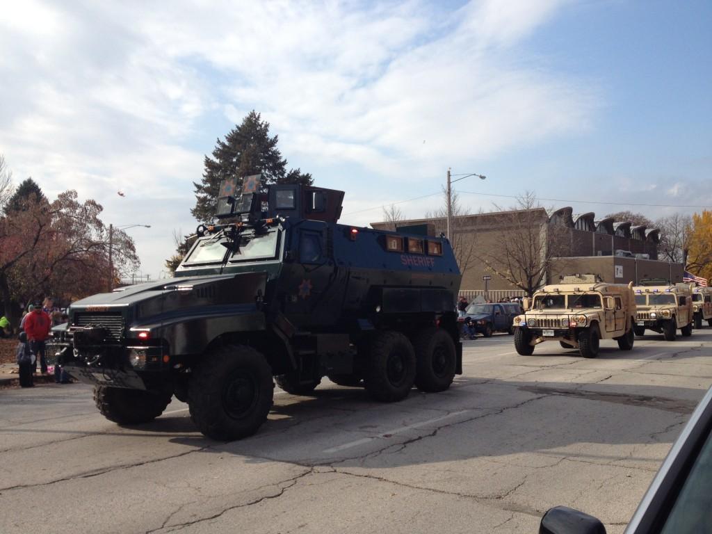 Militarized Scott County Iowa Sheriff Department Veteran's Day Parade 2015 Davenport