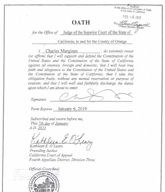 JudgeCharlesMargines.OathofOffice