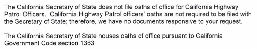 CHP.NoOathFile.SecretaryofState.California